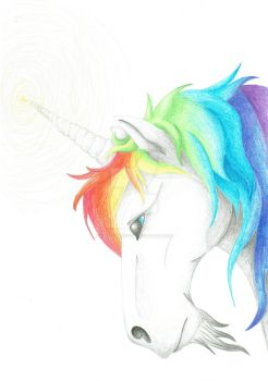 Mystical Rainbow Unicorn by HeroJamesStar