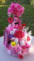 Pinkie Pie Diaper Cake by PixelKitties