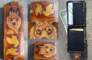Wallet: Wolf and Ivy by cloudstar-wolf