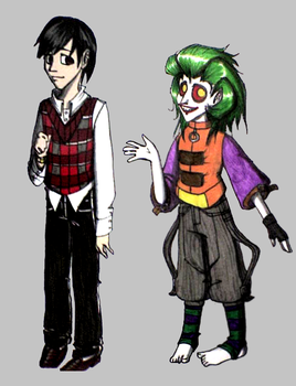 Teen Bruce Wayne and Joker by Ronja-chan