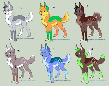 .Wolf Adopts.. CLOSED by bro-palmer
