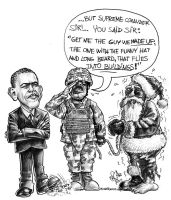 OBAMA vs CLAUS by otas32