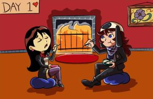 MM: Blind Date Day 1 by Card-Queen