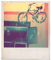 bicycle on the wall. by revKat