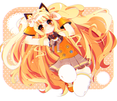 pretty orange bby by charikoko