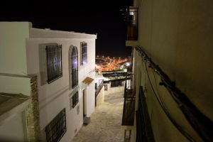Spanish Street at Night by fruitycube