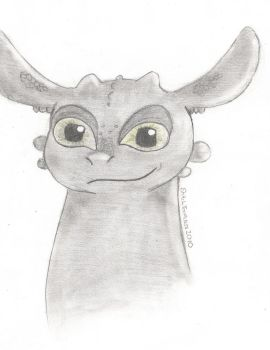 Toothless head by StitchToothless2010