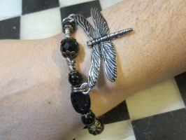 Silver Dragonflies Bracelet 1 by Windthin