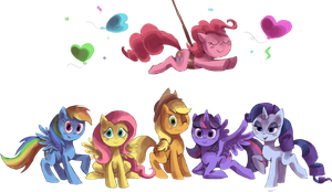 mane 6 by ponyponyfive