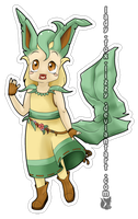 Leafeon Gijinka by Zusuriki