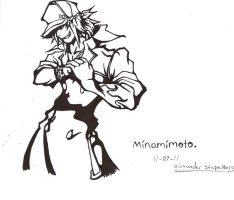 Minamimoto - line art by ansem-the-dead