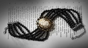 necklace - beads and cameo by Sizhiven