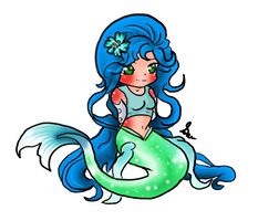 Mermaid Summer Chibi by SilveronWolf