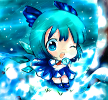 Cirno Touhou by InsainlyColorful