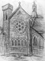 St. Andrew's Church sketch 3 by rawjawbone