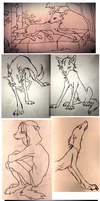 Lira-wolves sketches by flowerewolf