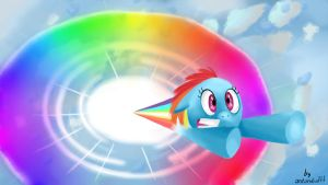 The Sonic Rainboom by antondrafff