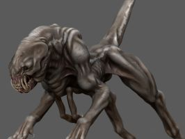 Creature Sculpt Based on Kenbarthelmy Concept art! by doctanx0013