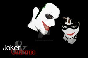 Joker and Quinnie by JaviviDarkie