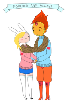 Fionna and Flame Prince by yunitea