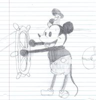 Steamboat Willie by BrendanLuik