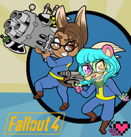 Sunny and Mer Fallout 4 Chibis by ladypixelheart