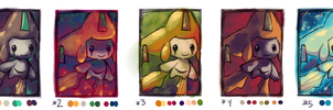 Jirachi Color Practice by crayon-chewer