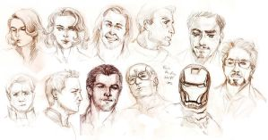 Avengers Assemble by marourin