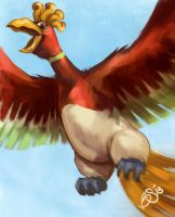 Ho-oh Speedpaint  by Bekuhz