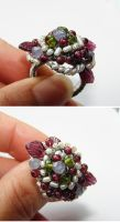 Vineyard wire wraped ring by CrysallisCreations