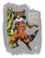 Rocket Raccoon by MZ15