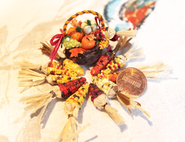 Fairy Basket and Miniature Indian Corn by WaterGleam