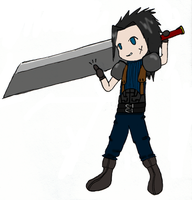 Chibi Zack Fair by Te-double-gz