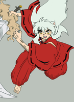 ::Inuyasha in Action:: Colored by DarkPiro