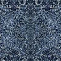 Mandala in blue with gold by eralex61