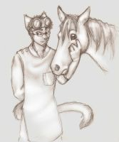 Dr. Spiff and Bad Horse by Anacita