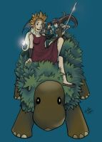 Riding the Treea Pet by TheDelphina