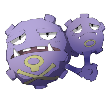 Poison Type Collab: Weezing by manatiki
