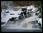 Factory Falls in the winter by ambermac148