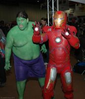 The Hulk and Iron Man by ArcaneArchery