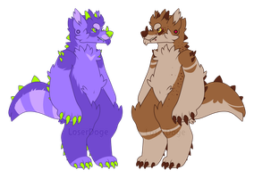 Monster dog {auction} CLOSED by LoserDoge