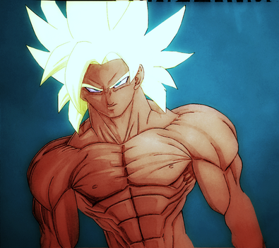 NovaSaiyajinGoku - Goku Unknown Saiyan colored by maikeru01