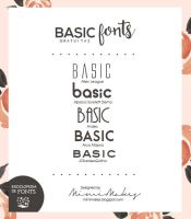 BASIC fonts/tipografias. by mimimakes