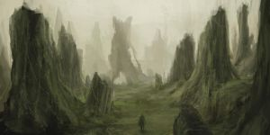 Forest ruins by HiuNt