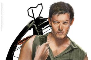 The Walking Dead Daryl Final Color by corysmithart