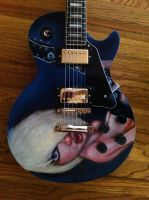 Pinup on les paul copy (front) by JaimeMArtist