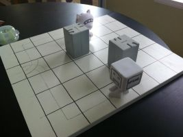 Giant Monster Battle board building test by Hungryclone