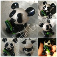 Panda with Bamboo Shoot! by CelestialCreatures