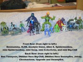 MY BEN 10 FIGURINES...lol by TheDocRoach