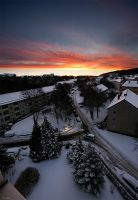 winter sunrise by Lunox-baik